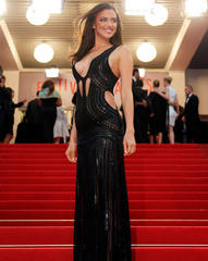 Cannes 2013: Irina Shayk barely avoids nipple slip as she goes braless on red carpet