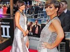 Bump's first red carpet: Frankie Sandford shows off her pregnant shape as she joins bandmates at Hangover 3 premiere