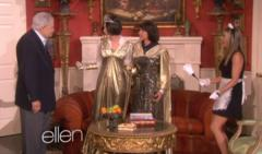 aniston plays french maid with 'ellen' [video]