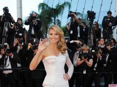 Heidi Klum Shows Some Leg in Versace at the Cannes Film Festival