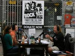 radio hosts caged for the cure