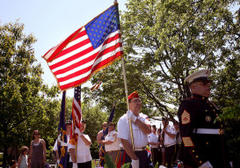memorial day puts the military on parade in elmhurst