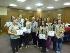 Girl Scouts Honored for Work With Women's Shelter