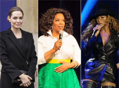 Oprah, Beyonce and Angelina Jolie among Forbes' most powerful women list
