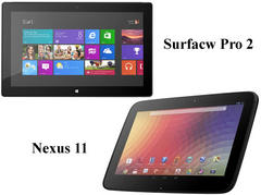 google nexus 11 specs and features comparison with microsoft surface pro 2